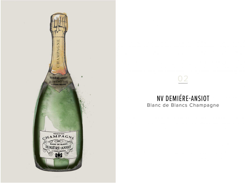 NV Demiére-Ansiot Blanc de Blancs Champagne