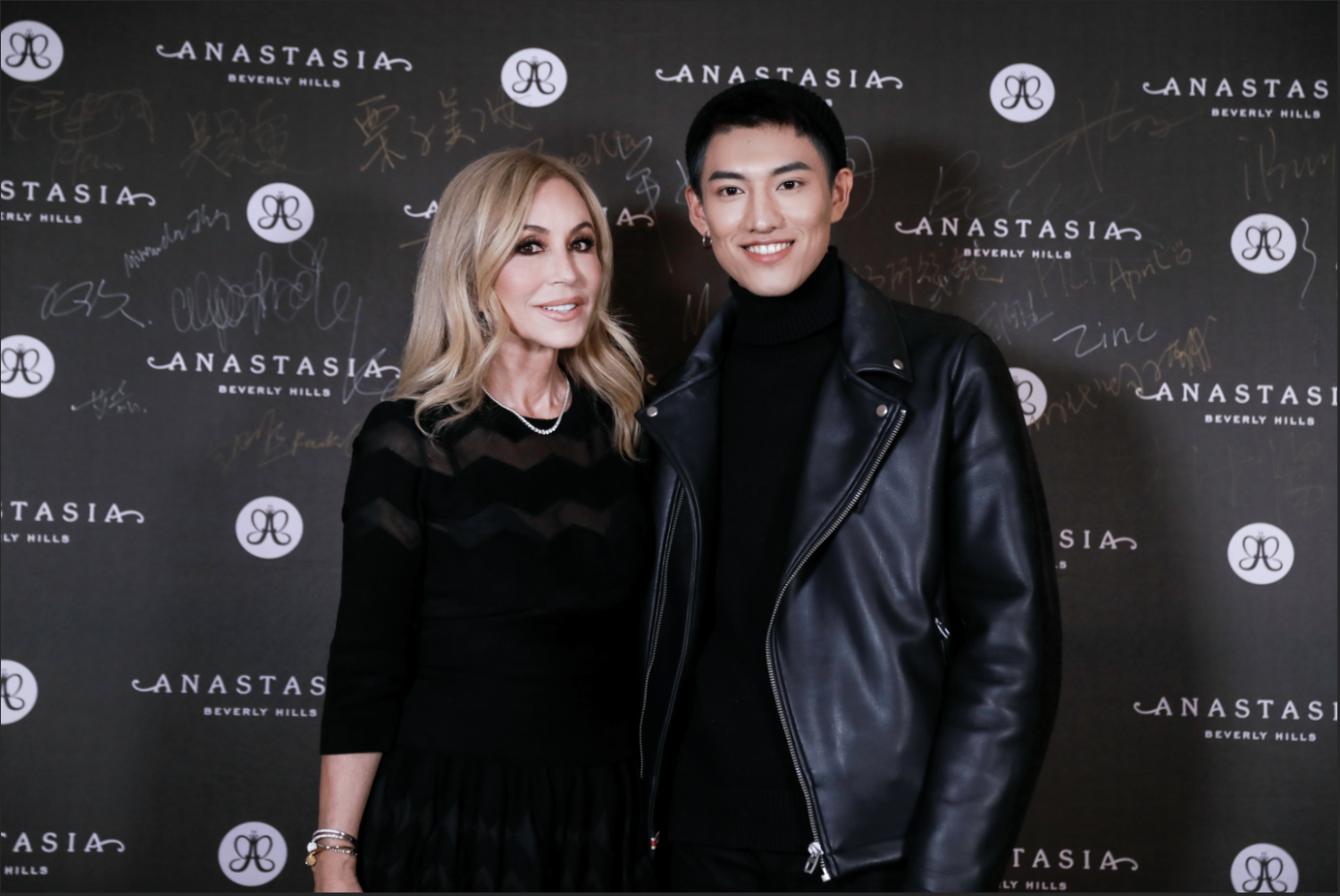 Anastasia with Influencer at event in Shanghai